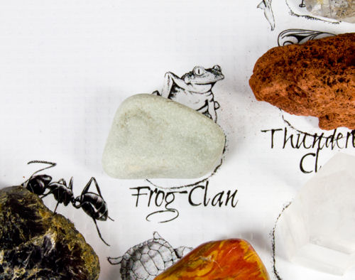 Frog Clan Location on the Medicine Wheel with Crystal