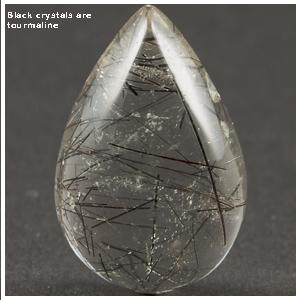 black tourmaline quartz
